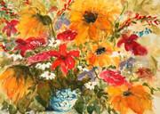 """""""Sunshine Flowers and Blue Vase"""""""